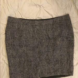 Black and white tweed skirt EUC Lane Bryant